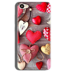 Vivo Y55L Mobile Covers Cases Hearts- Lowest Price - Paybydaddy.com