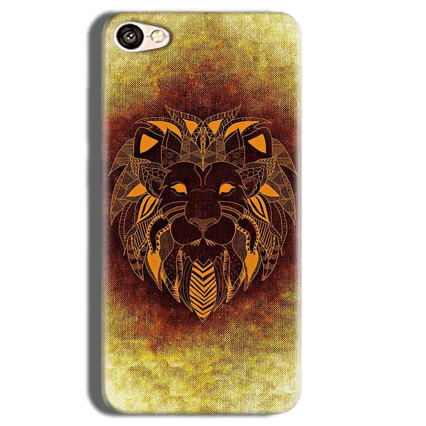 Vivo Y55L Mobile Covers Cases Lion face art - Lowest Price - Paybydaddy.com