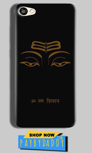 Vivo Y55L Mobile Covers Cases Om Namaha Gold Black - Lowest Price - Paybydaddy.com