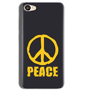 Vivo Y55L Mobile Covers Cases Peace Blue Yellow - Lowest Price - Paybydaddy.com