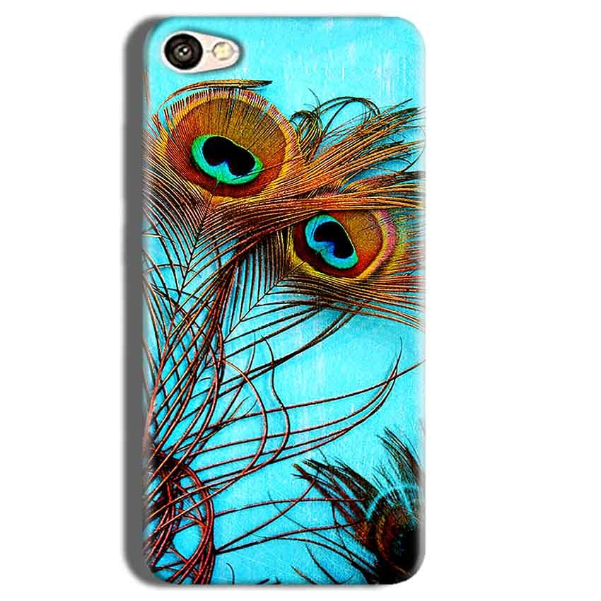 Vivo Y55L Mobile Covers Cases Peacock blue wings - Lowest Price - Paybydaddy.com
