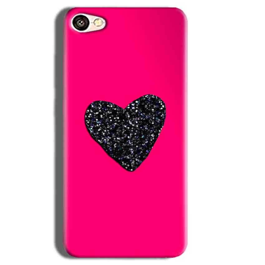 Vivo Y55L Mobile Covers Cases Pink Glitter Heart - Lowest Price - Paybydaddy.com
