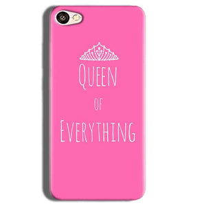 Vivo Y55L Mobile Covers Cases Queen Of Everything Pink White - Lowest Price - Paybydaddy.com
