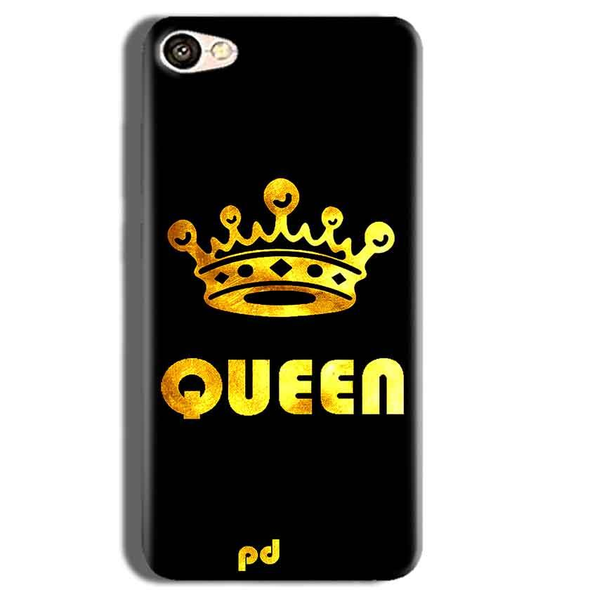 Vivo Y55L Mobile Covers Cases Queen With Crown in gold - Lowest Price - Paybydaddy.com