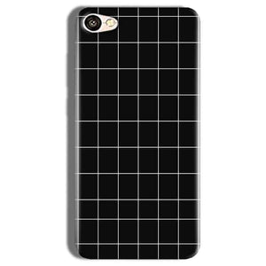 Vivo Y66 Mobile Covers Cases Black with White Checks - Lowest Price - Paybydaddy.com