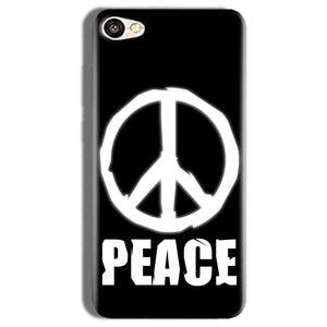 Vivo Y66 Mobile Covers Cases Peace Sign In White - Lowest Price - Paybydaddy.com