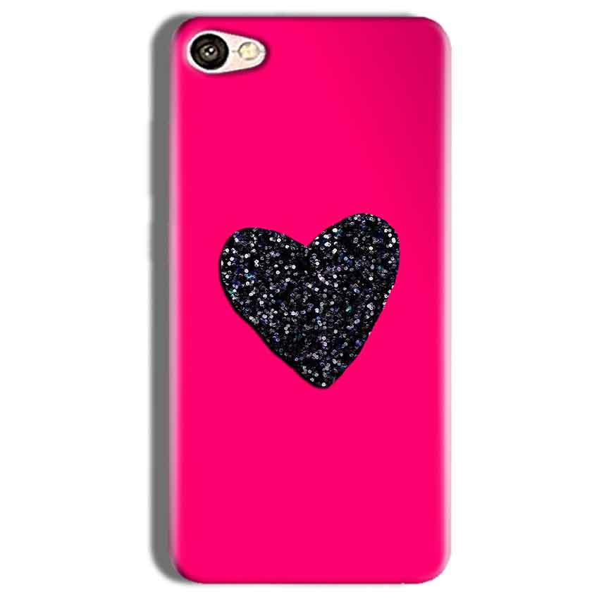 Vivo Y66 Mobile Covers Cases Pink Glitter Heart - Lowest Price - Paybydaddy.com