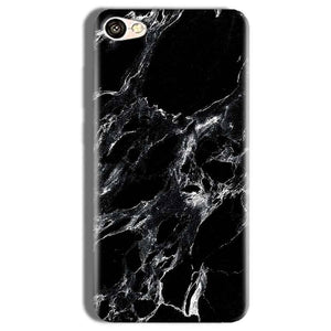 Vivo Y66 Mobile Covers Cases Pure Black Marble Texture - Lowest Price - Paybydaddy.com