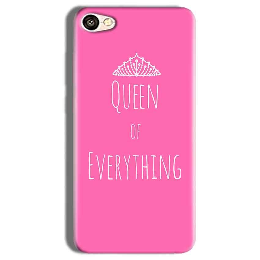 Vivo Y66 Mobile Covers Cases Queen Of Everything Pink White - Lowest Price - Paybydaddy.com