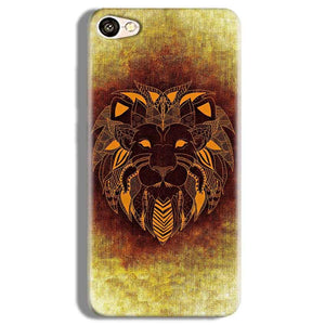 Vivo Y67 Mobile Covers Cases Lion face art - Lowest Price - Paybydaddy.com