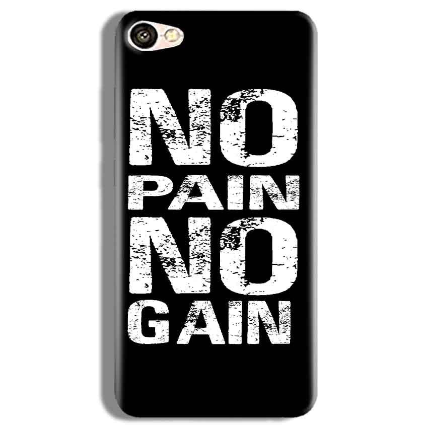 Vivo Y67 Mobile Covers Cases No Pain No Gain Black And White - Lowest Price - Paybydaddy.com