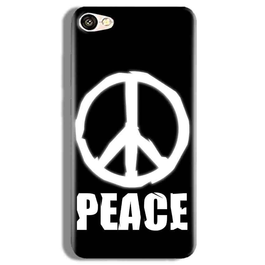 Vivo Y67 Mobile Covers Cases Peace Sign In White - Lowest Price - Paybydaddy.com