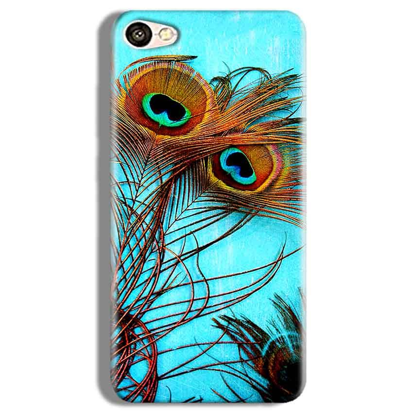 Vivo Y67 Mobile Covers Cases Peacock blue wings - Lowest Price - Paybydaddy.com