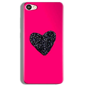 Vivo Y67 Mobile Covers Cases Pink Glitter Heart - Lowest Price - Paybydaddy.com
