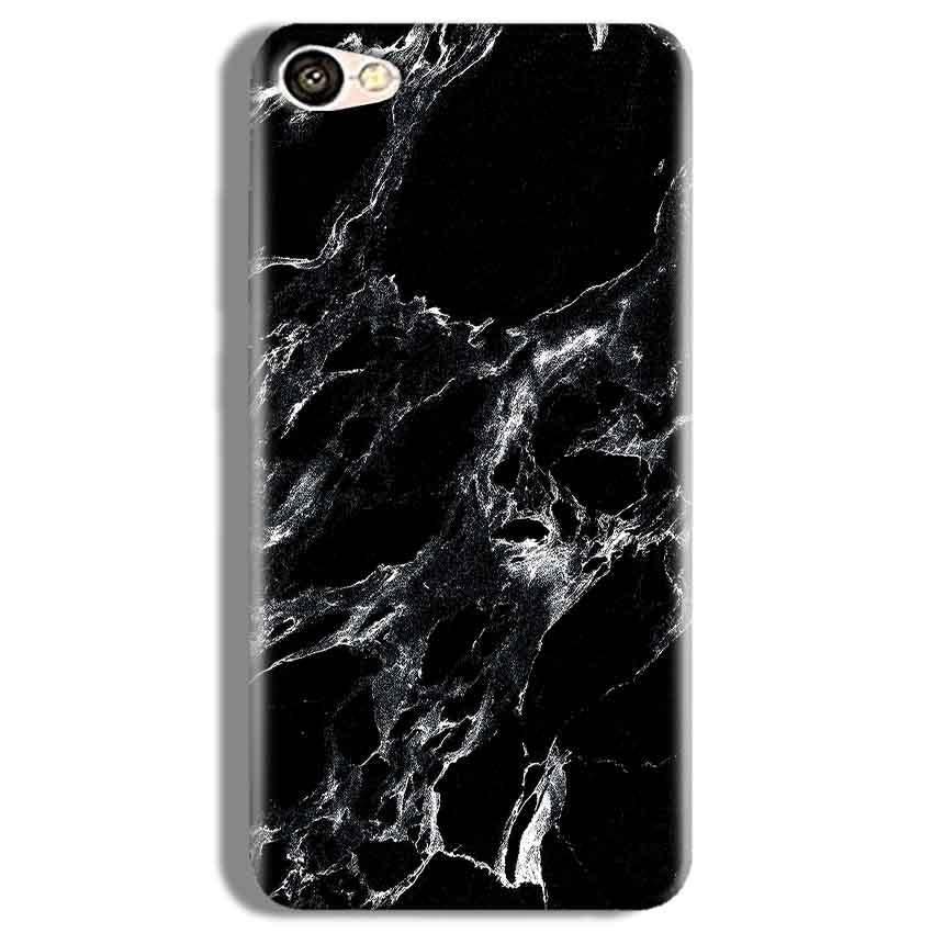 Vivo Y67 Mobile Covers Cases Pure Black Marble Texture - Lowest Price - Paybydaddy.com