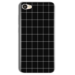 Vivo Y69 Mobile Covers Cases Black with White Checks - Lowest Price - Paybydaddy.com