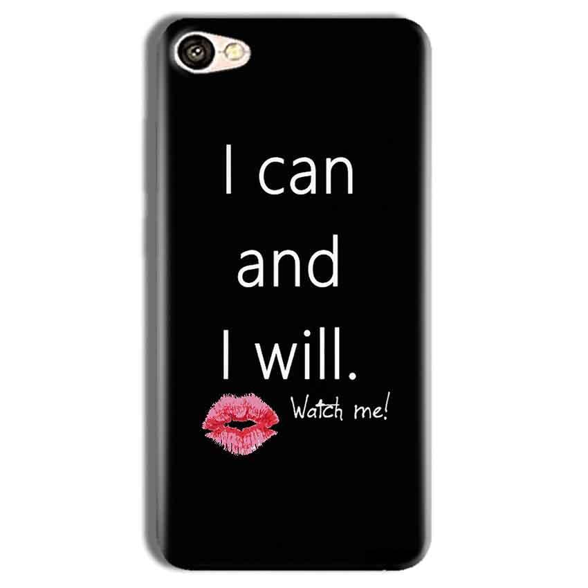 Vivo Y69 Mobile Covers Cases i can and i will Lips - Lowest Price - Paybydaddy.com
