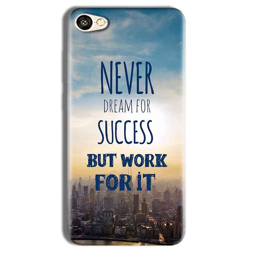 Vivo Y69 Mobile Covers Cases Never Dreams For Success But Work For It Quote - Lowest Price - Paybydaddy.com