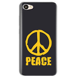 Vivo Y69 Mobile Covers Cases Peace Blue Yellow - Lowest Price - Paybydaddy.com
