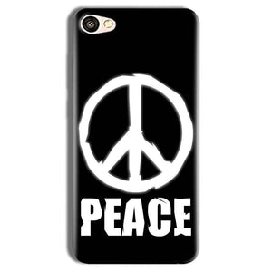Vivo Y69 Mobile Covers Cases Peace Sign In White - Lowest Price - Paybydaddy.com