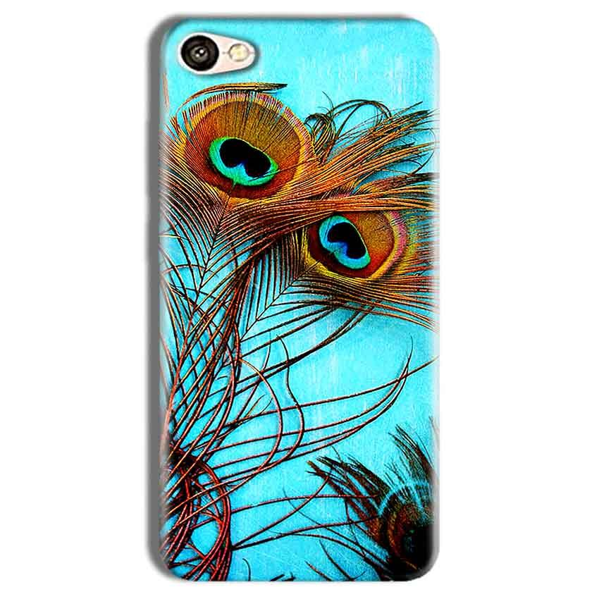 Vivo Y69 Mobile Covers Cases Peacock blue wings - Lowest Price - Paybydaddy.com