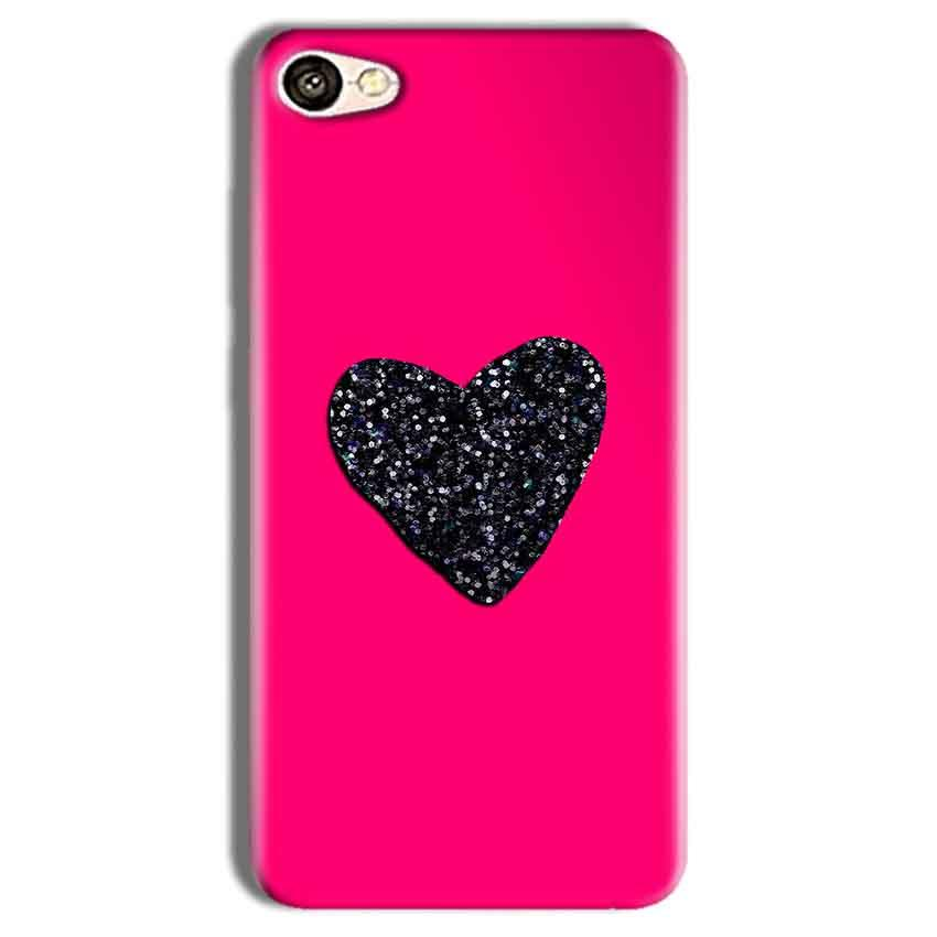 Vivo Y69 Mobile Covers Cases Pink Glitter Heart - Lowest Price - Paybydaddy.com