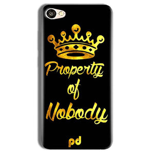 Vivo Y69 Mobile Covers Cases Property of nobody with Crown - Lowest Price - Paybydaddy.com