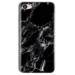 Vivo Y69 Mobile Covers Cases Pure Black Marble Texture - Lowest Price - Paybydaddy.com