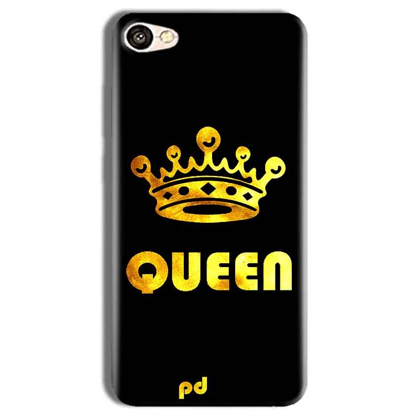 Vivo Y69 Mobile Covers Cases Queen With Crown in gold - Lowest Price - Paybydaddy.com