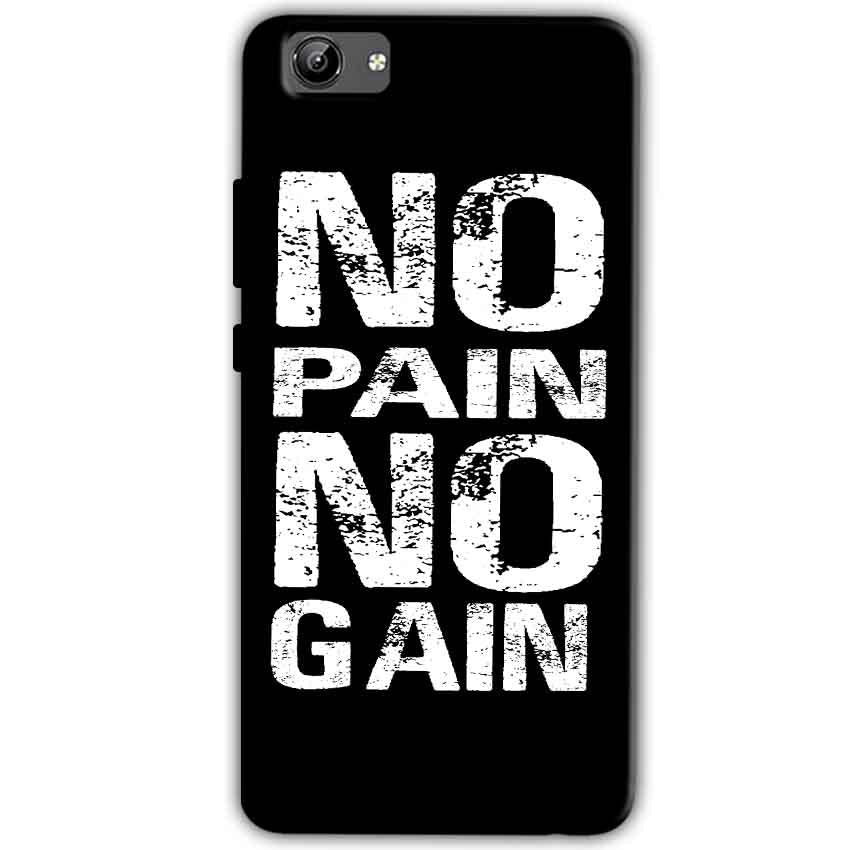 Vivo Y71 Mobile Covers Cases No Pain No Gain Black And White - Lowest Price - Paybydaddy.com