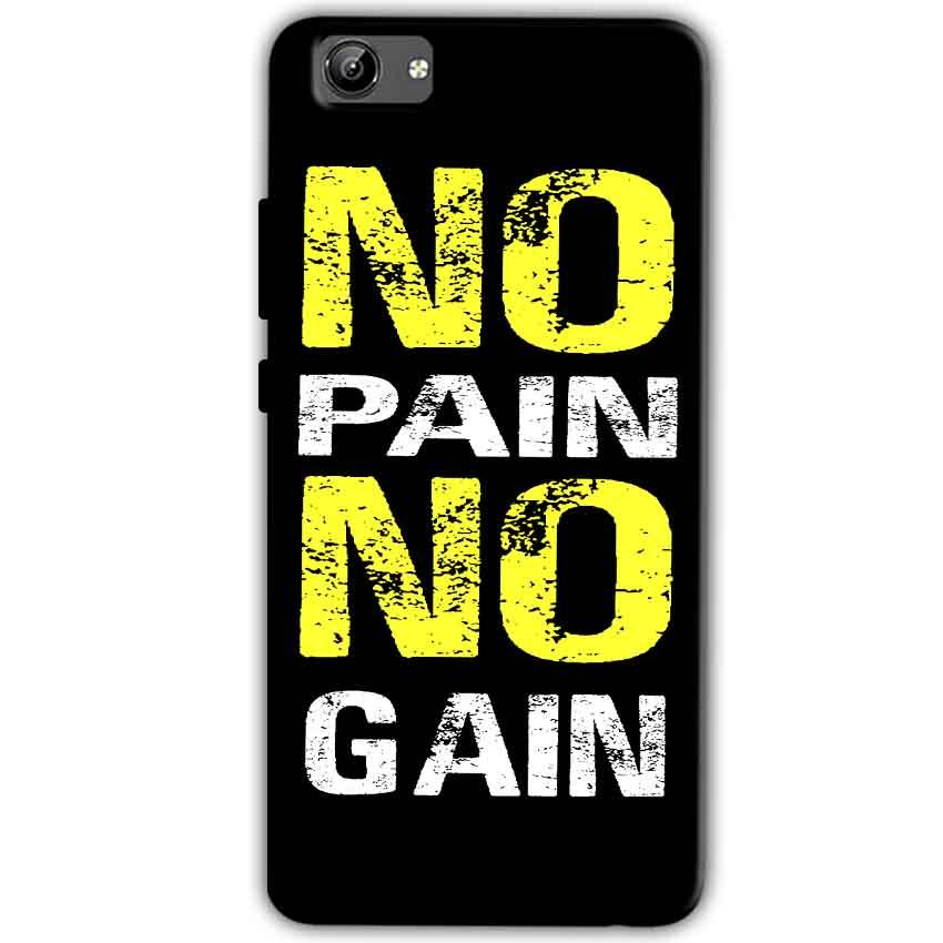 Vivo Y71 Mobile Covers Cases No Pain No Gain Yellow Black - Lowest Price - Paybydaddy.com