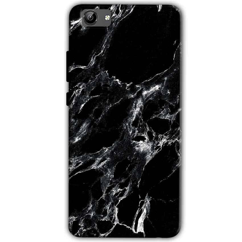 Vivo Y71 Mobile Covers Cases Pure Black Marble Texture - Lowest Price - Paybydaddy.com