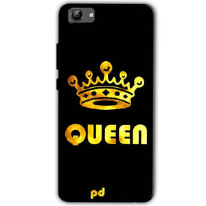 Vivo Y71 Mobile Covers Cases Queen With Crown in gold - Lowest Price - Paybydaddy.com