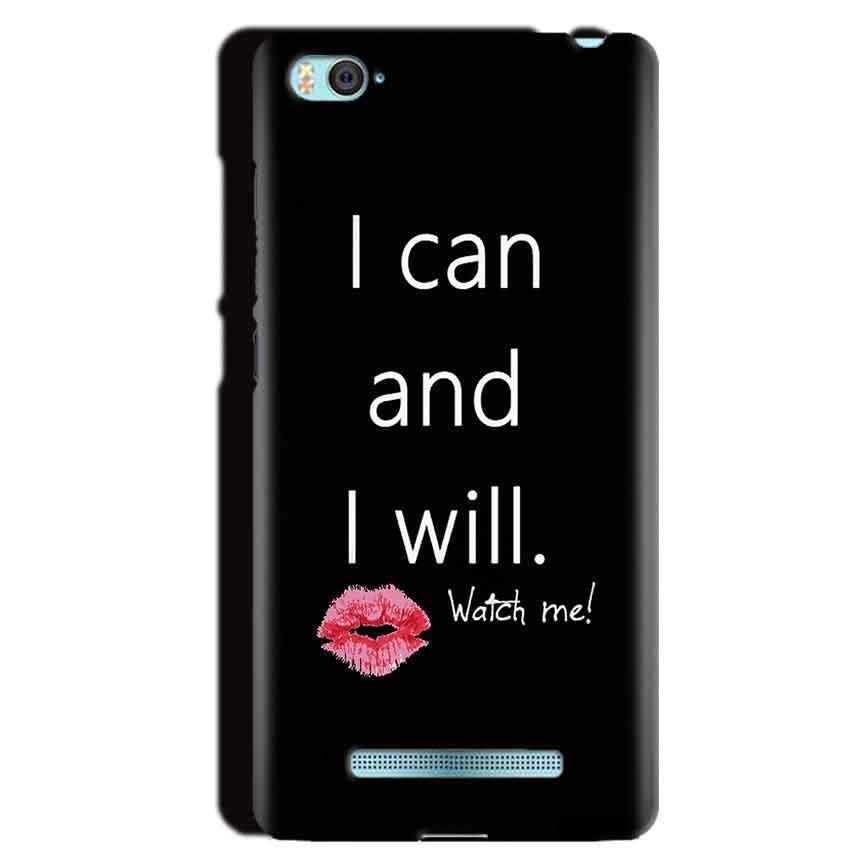 Xiaomi Mi4i Mobile Covers Cases i can and i will Lips - Lowest Price - Paybydaddy.com
