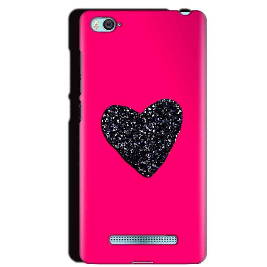 Xiaomi Mi4i Mobile Covers Cases Pink Glitter Heart - Lowest Price - Paybydaddy.com