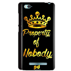 Xiaomi Mi4i Mobile Covers Cases Property of nobody with Crown - Lowest Price - Paybydaddy.com