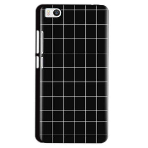 Xiaomi Mi5 Mobile Covers Cases Black with White Checks - Lowest Price - Paybydaddy.com