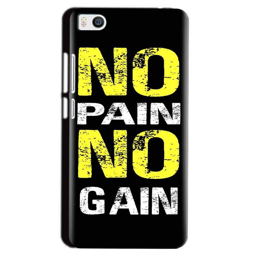 Xiaomi Mi5 Mobile Covers Cases No Pain No Gain Yellow Black - Lowest Price - Paybydaddy.com