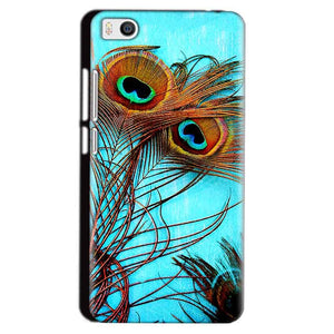 Xiaomi Mi5 Mobile Covers Cases Peacock blue wings - Lowest Price - Paybydaddy.com