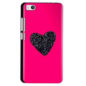 Xiaomi Mi5 Mobile Covers Cases Pink Glitter Heart - Lowest Price - Paybydaddy.com