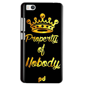 Xiaomi Mi5 Mobile Covers Cases Property of nobody with Crown - Lowest Price - Paybydaddy.com