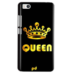 Xiaomi Mi5 Mobile Covers Cases Queen With Crown in gold - Lowest Price - Paybydaddy.com