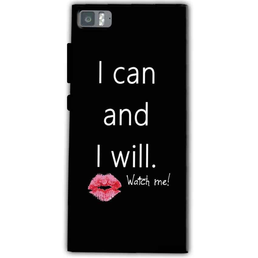 Xiaomi Mi 3 Mobile Covers Cases i can and i will Lips - Lowest Price - Paybydaddy.com