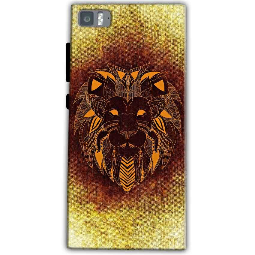 Xiaomi Mi 3 Mobile Covers Cases Lion face art - Lowest Price - Paybydaddy.com