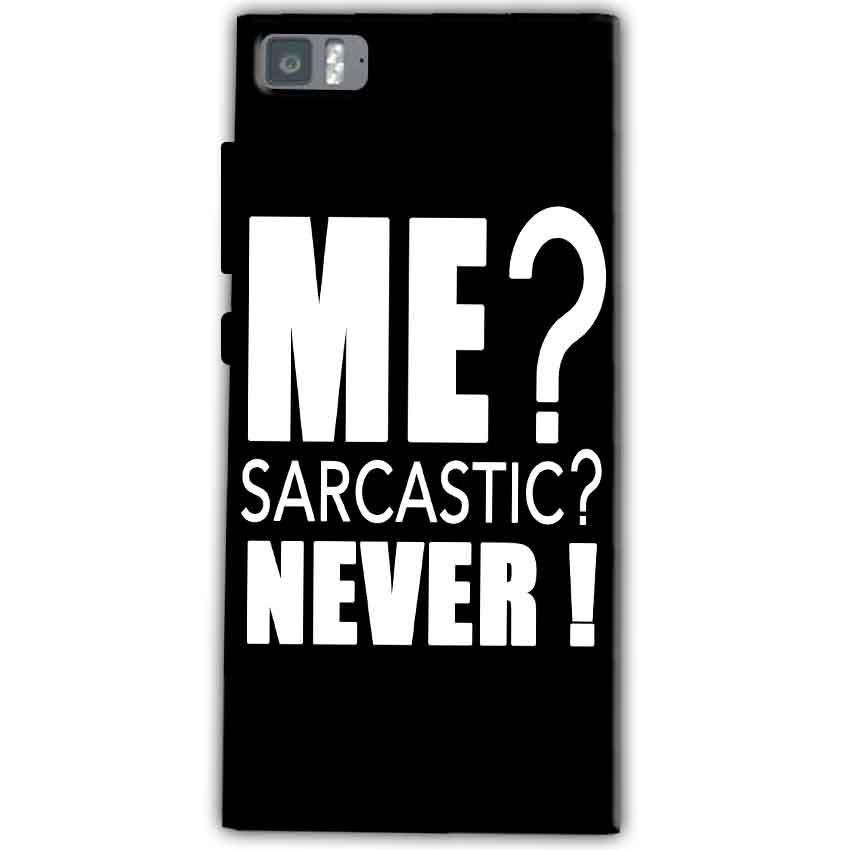 Xiaomi Mi 3 Mobile Covers Cases Me sarcastic - Lowest Price - Paybydaddy.com