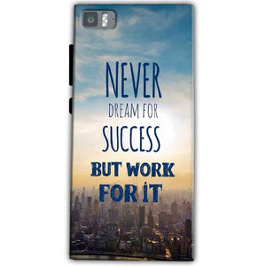 Xiaomi Mi 3 Mobile Covers Cases Never Dreams For Success But Work For It Quote - Lowest Price - Paybydaddy.com