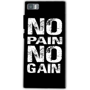 Xiaomi Mi 3 Mobile Covers Cases No Pain No Gain Black And White - Lowest Price - Paybydaddy.com