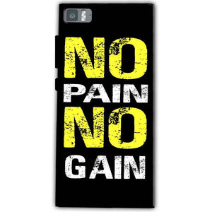 Xiaomi Mi 3 Mobile Covers Cases No Pain No Gain Yellow Black - Lowest Price - Paybydaddy.com