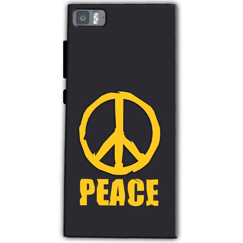 Xiaomi Mi 3 Mobile Covers Cases Peace Blue Yellow - Lowest Price - Paybydaddy.com
