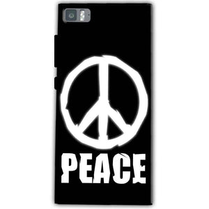 Xiaomi Mi 3 Mobile Covers Cases Peace Sign In White - Lowest Price - Paybydaddy.com